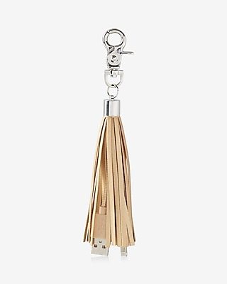 Express Womens Express Womens Ok Orginals Usb Tassel Keychain And Bag Charm Neutral
