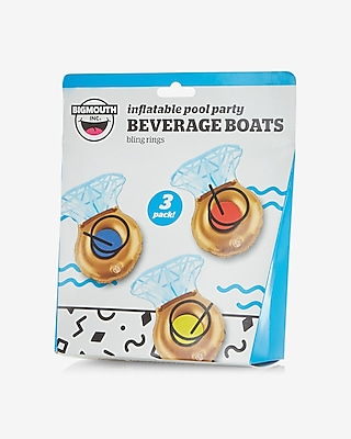 Express Womens Bigmouth Inc Bling Ring Beverage Boats Gold 11479468
