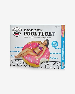 Express Womens Express Womens Bigmouth Inc Giant Strawberry Frosted Donut Pool Float