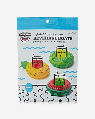 Express Womens Express Womens Big Mouth Inc. Set Of Three Tropical Beverage Boat Floaties Multi
