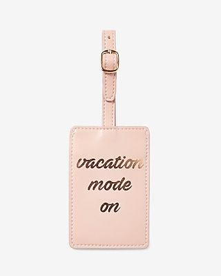Express Womens Vacation Mode On Luggage Tag