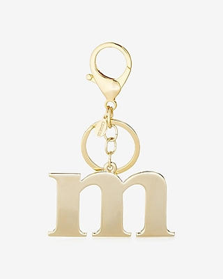 Express Womens M Initial Keychain