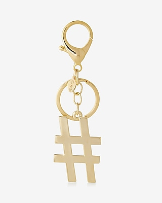 Express Womens Hashtag Keychain
