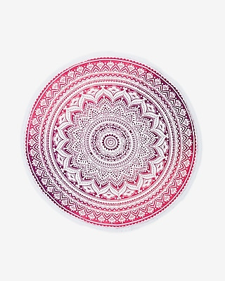 Kitsch Round Geometric Beach Blanket