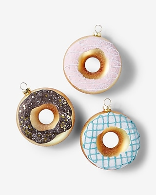 Express Womens 8 Oak Lane Donut Ornaments Set