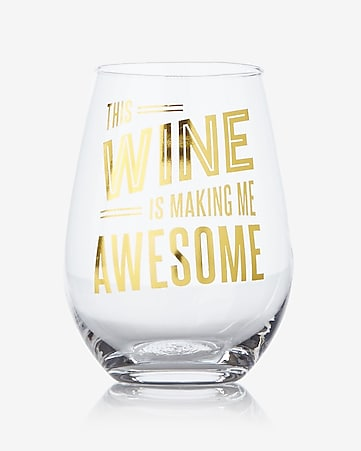 slant this wine is making me awesome stemless wine glass