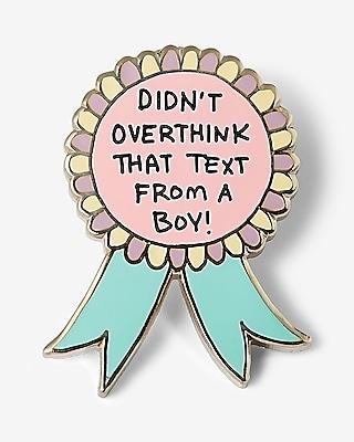 Express Womens Jac Vanek Didn't Overthink A Text Pin