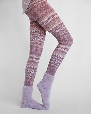 Express Womens Solid Cozy Boot Socks