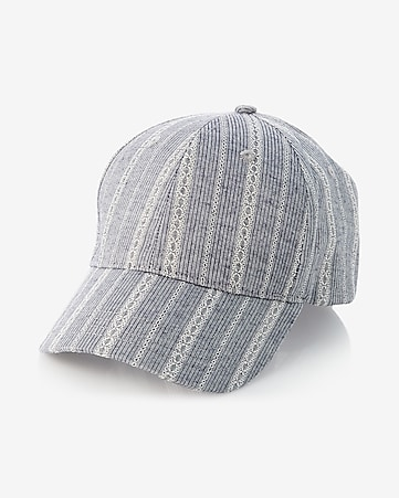 lace stripe baseball hat