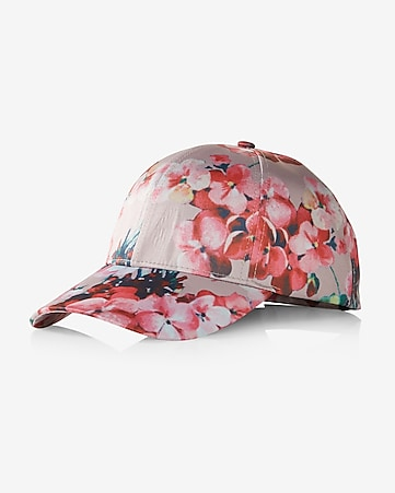 floral satin baseball hat
