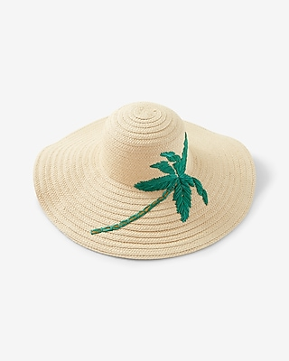 Express Womens Palm Tree Sun Hat