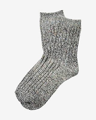 Express Womens Marled Popcorn Boot Socks