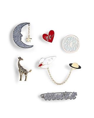 Express Womens Karlie Kloss Moon And Giraffe Pin Set Multi