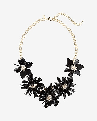 Express Womens Flower Bib Necklace