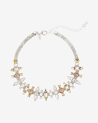 Express Womens Mixed Stone Choker Necklace