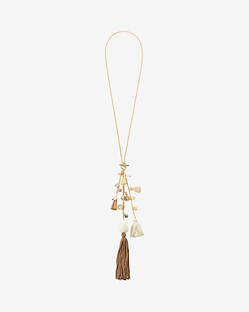 tassel toggle pendant drop necklace