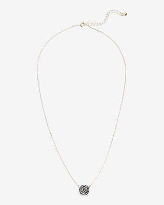 Express Womens Pave Disc Collar Necklace