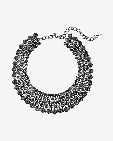 wide stone collar necklace