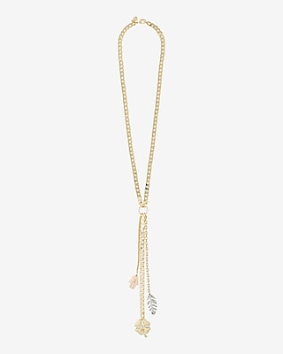 Express Womens Multi-Charm Pendant Necklace