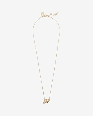 Express Womens Arrow Heart Pendant Necklace