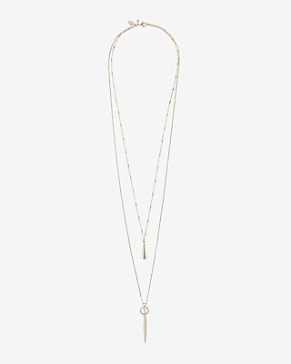 Express Womens Delicate Multi Strand Pendant Necklace
