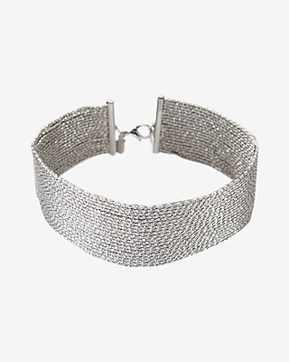 Express Womens Sparkle Chain Choker Necklace