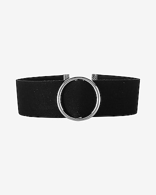 Express Womens Circle Faux Suede Choker Necklace