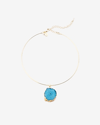 Genuine Druzy Agate Collar Necklace