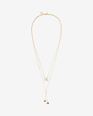Embellished Love Layered Necklace
