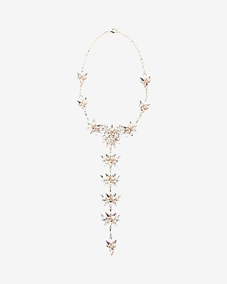 Express Womens Mixed Stone Statement Necklace