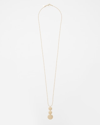 Express Womens Linear Disc Pendant Necklace