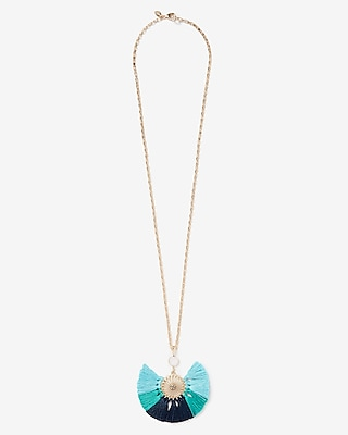 Express Womens Multi Tassel Pendant Drop Necklace