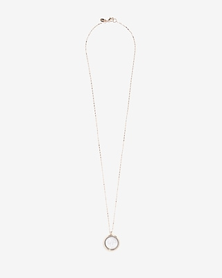 Express Womens Locket Pendant Necklace