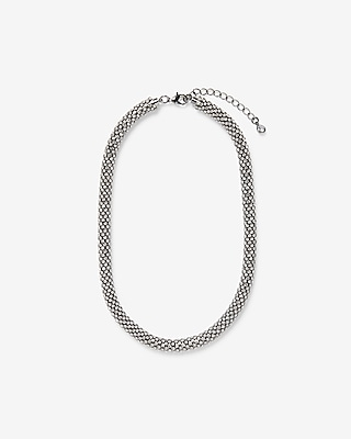 Express Womens Bezel Crystal Rope Necklace
