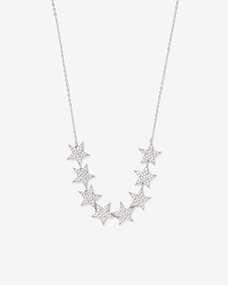 Express Womens Cubic Zirconia Star Pendant Necklace