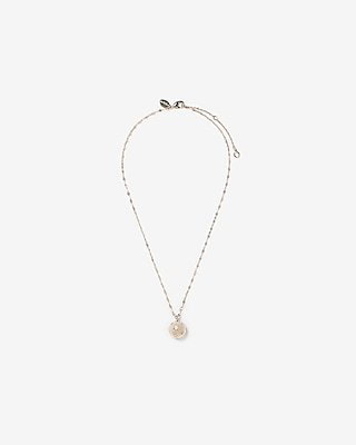 Express Womens Embellished Star Orb Pendant Necklace