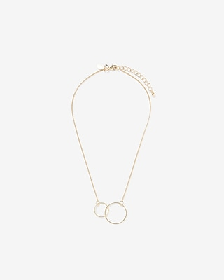 Express Womens Interlocking Metal Circle Necklace