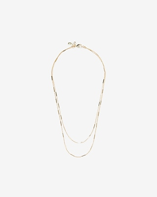 Express Womens Layered Chain Necklace