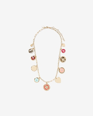 Express Womens Mixed Charm Necklace