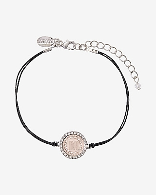 Express Womens Rose Gold M Initial Etched Disc Bracelet
