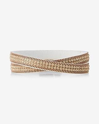 Express Womens Double Wrap Stone Bracelet