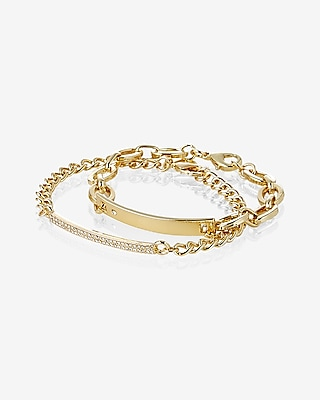 Express Womens Set Of Two Id Bracelets
