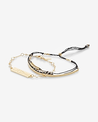 Express Womens Set Of Two Love Bracelets