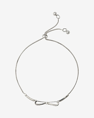 Express Womens Bow Pull Chain Bracelet