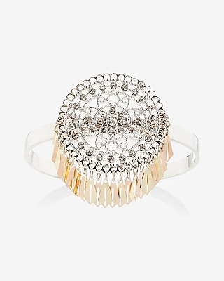 Express Womens Embellished Filigree Cuff