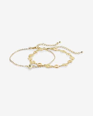 Express Womens Set Of Two Evil Eye Filigree Anklets 00507031