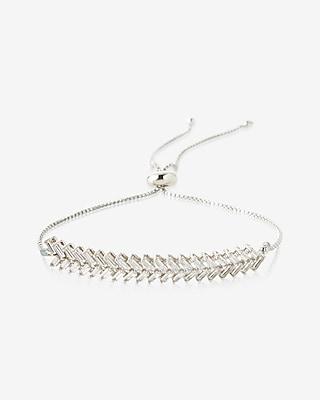 Express Womens Metal Zigzag Pull-Cord Bracelet