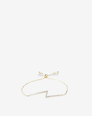 Express Womens Embellished Zigzag Pull-Cord Bracelet