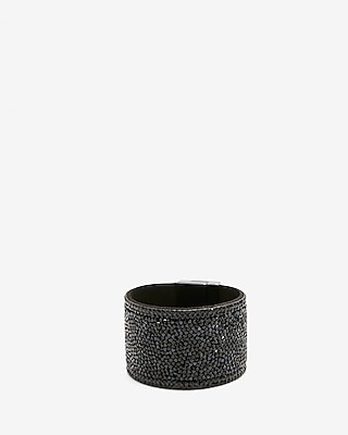 Express Womens Crushed Bead Turnlock Cuff Bracelet