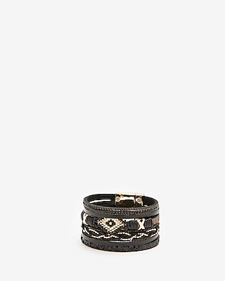 Express Womens Mixed Seed Turnlock Cuff Bracelet